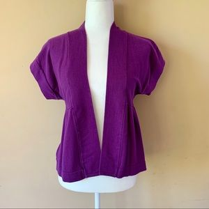 Christopher & Banks womens medium purple cardigan